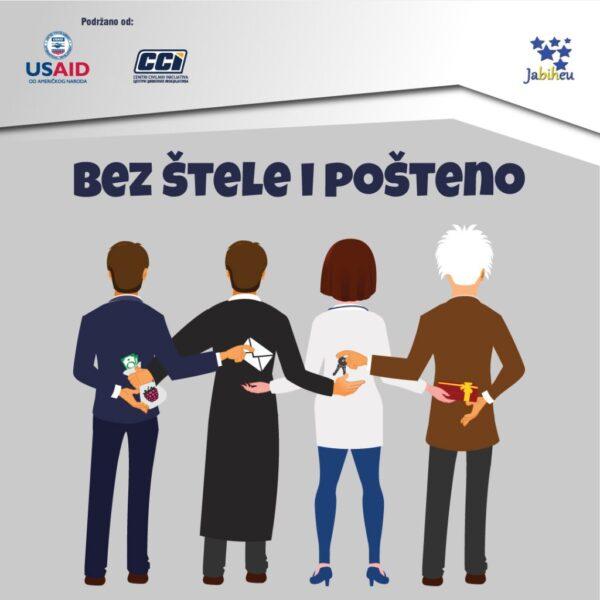 """Pridružite se i vi projektu """"Bez štele i korupcije"""" 29.04.'21. u Jajcu"""