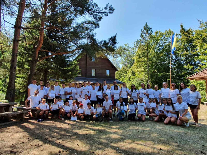 You are currently viewing COD Jajce / A four-day summer youth camp was held with the participation of over 40 young people from Jajce and surrounding towns