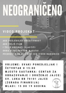 Read more about the article COD Jajce / Video workshop for young people aged 15 to 19